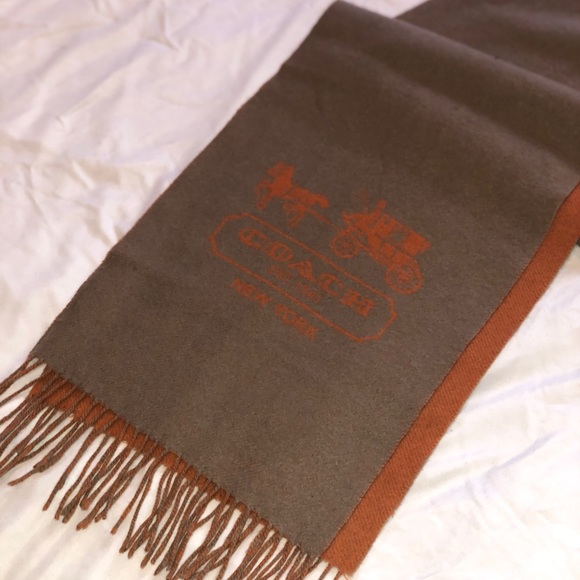 28dcbd7d6df5f Coach Accessories | Cashmere Scarf With Iconic Horse Carriage | Poshmark
